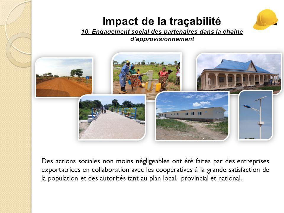 Impact de la traçabilité 10.