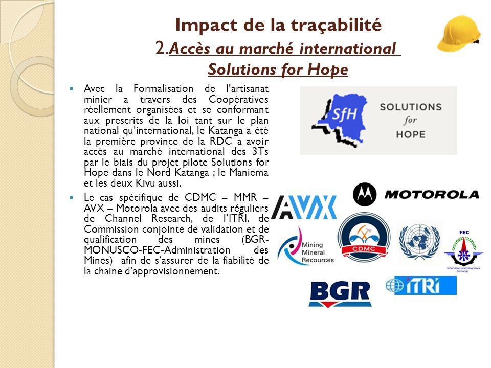 Impact de la traçabilité 2.