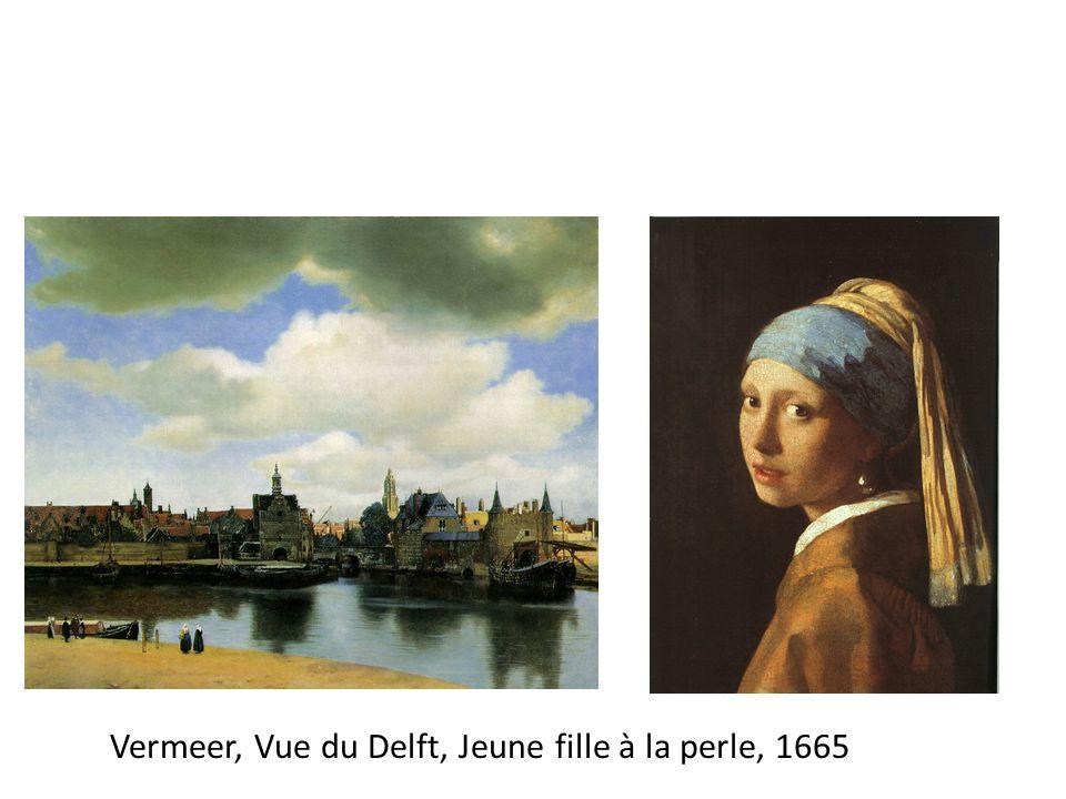 Vermeer, Vue du Delft, Jeune fille à la perle, 1665