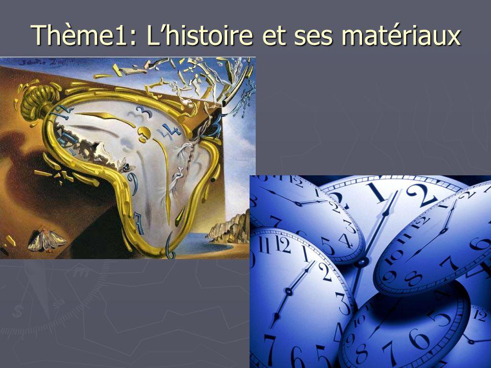 Thème1: L'histoire et ses matériaux