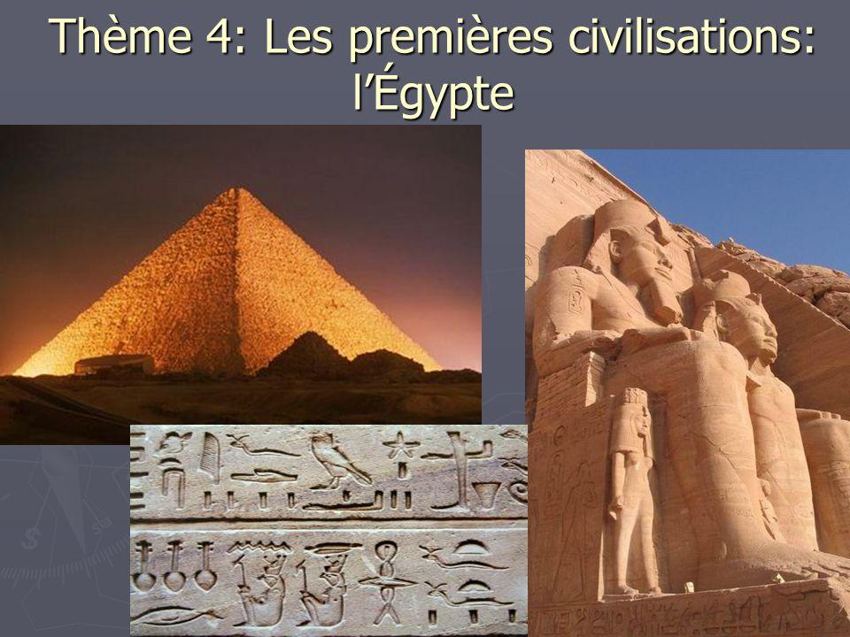 Thème 4: Les premières civilisations: l'Égypte