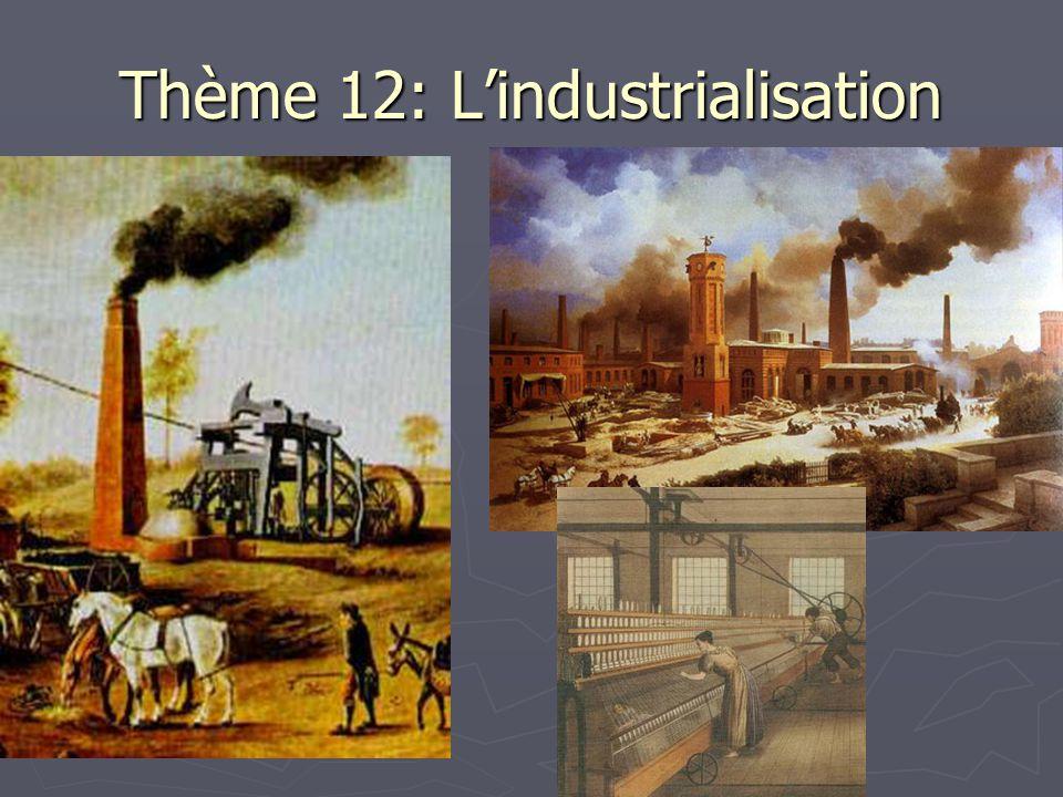 Thème 12: L'industrialisation