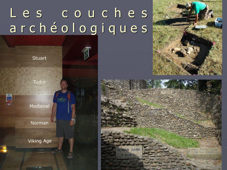 Les couches archéologiques