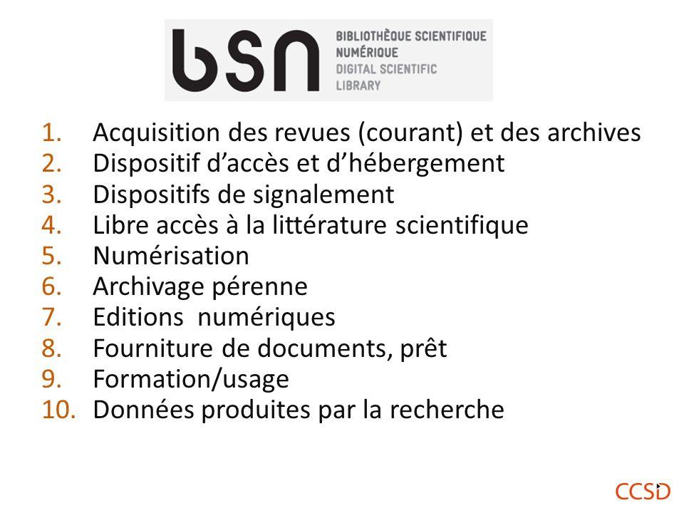 Le 2 avril 2013 la convention de partenariat en faveur des archives ouvertes et de la plate-forme mutualisée HAL a été signée à l'Académie des Sciences.