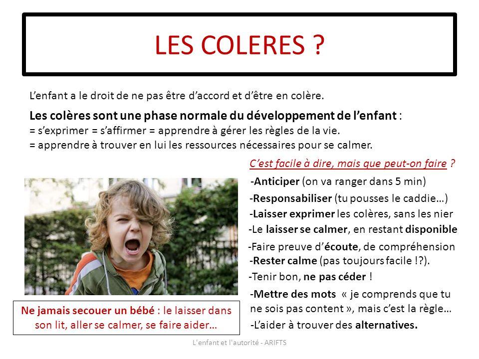 LES COLERES .