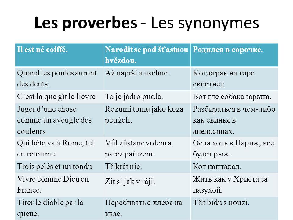 Conclusion les superstitions et les proverbes = l'identité nationale le français - distant du tchèque et du russe; certaines expressions idiomatiques identiques le tchèque et le russe - très proches; beaucoup d'expressions idiomatiques identiques