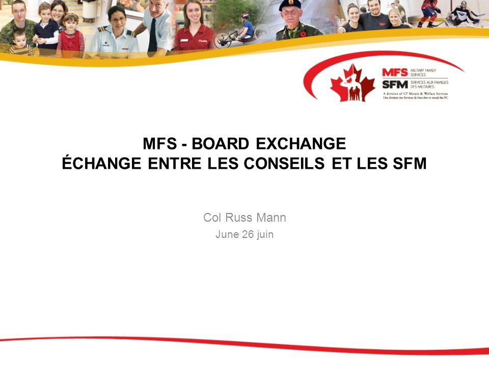 MFS - BOARD EXCHANGE ÉCHANGE ENTRE LES CONSEILS ET LES SFM Col Russ Mann June 26 juin