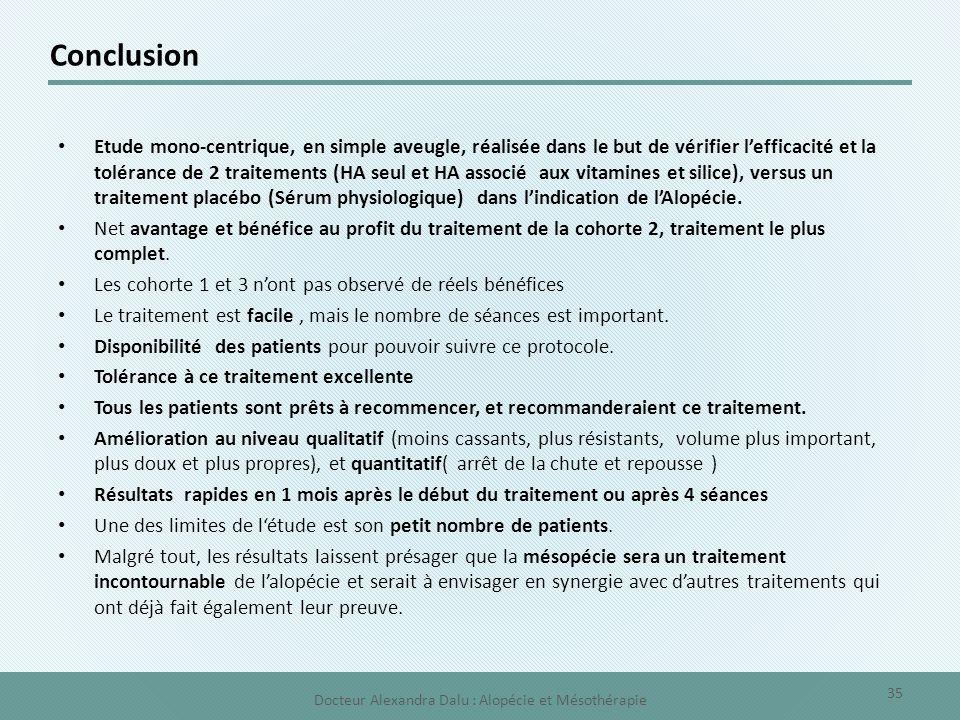 Etude mono-centrique, en simple aveugle, réalisée dans le but de vérifier l'efficacité et la tolérance de 2 traitements (HA seul et HA associé aux vit