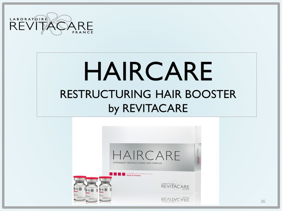 HAIRCARE RESTRUCTURING HAIR BOOSTER by REVITACARE 36
