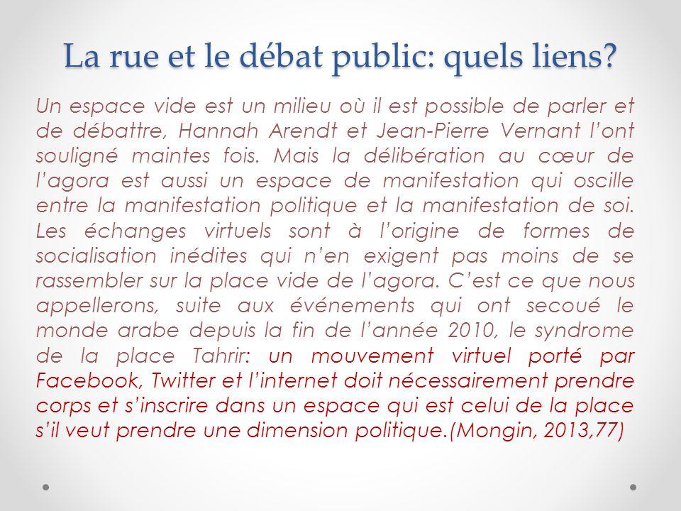 La rue et le débat public: quels liens.
