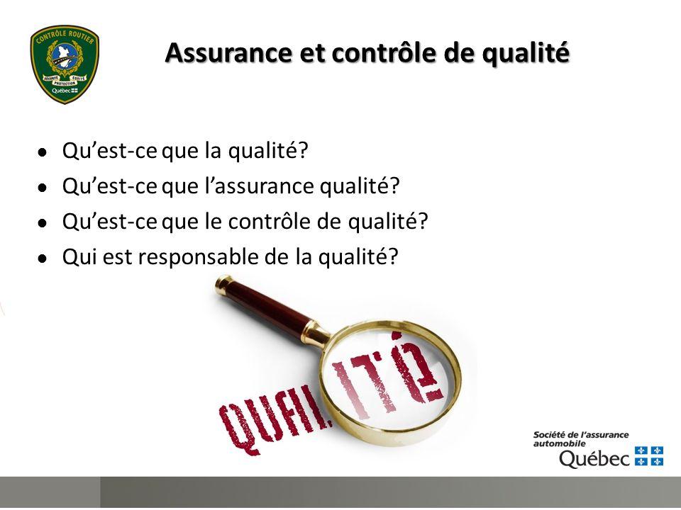 Assurance et contrôle de qualité ● Qu'est-ce que la qualité.