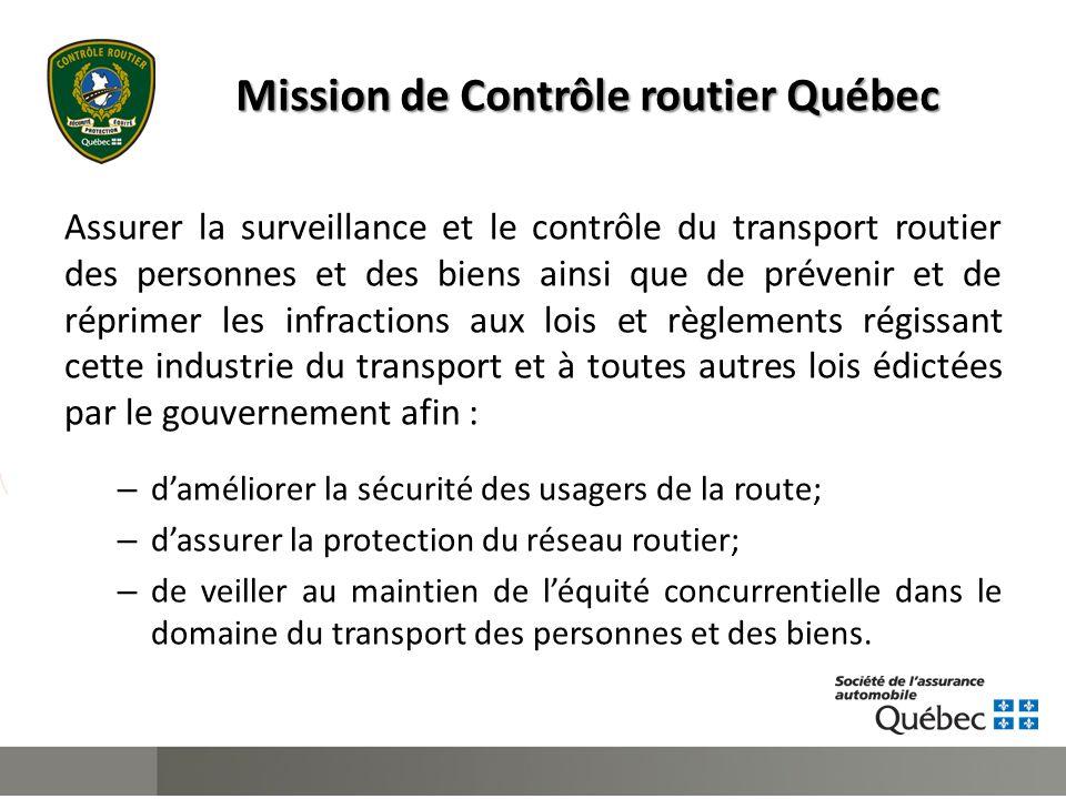 Activités de soutien ● Formations : – Supervision et administration; – Vérifications de véhicules routiers; – Expertises techniques des véhicules reconstruits.