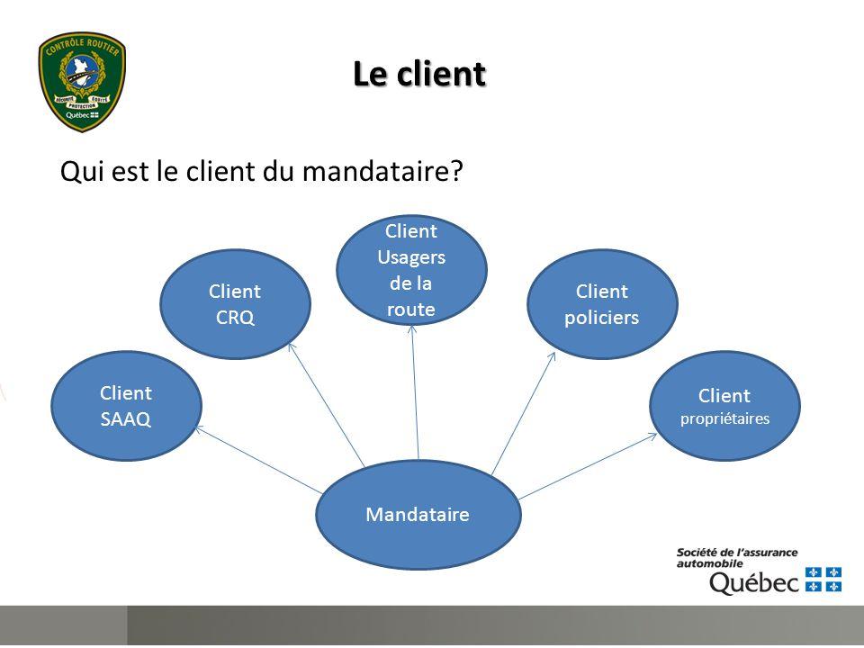 Le client Qui est le client du mandataire.