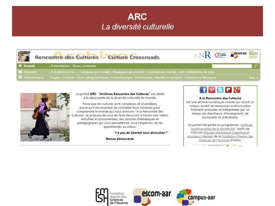 ARC La diversité culturelle A