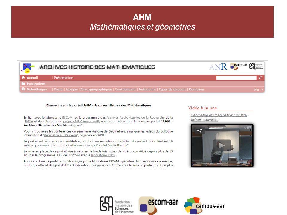 AHM Mathématiques et géométries A