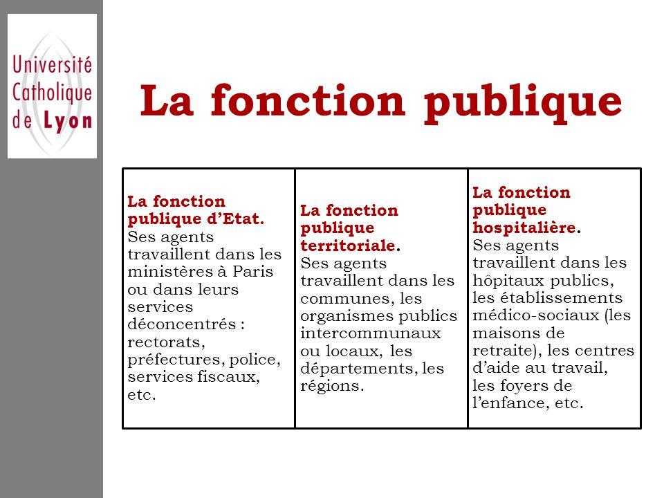 La fonction publique La fonction publique d'Etat.
