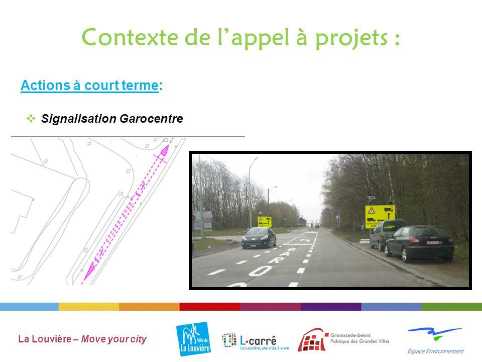 Contexte de l'appel à projets : La Louvière – Move your city Poterie Monseu Actions à court terme:  AIRES DE JEUX Bois-du-Luc