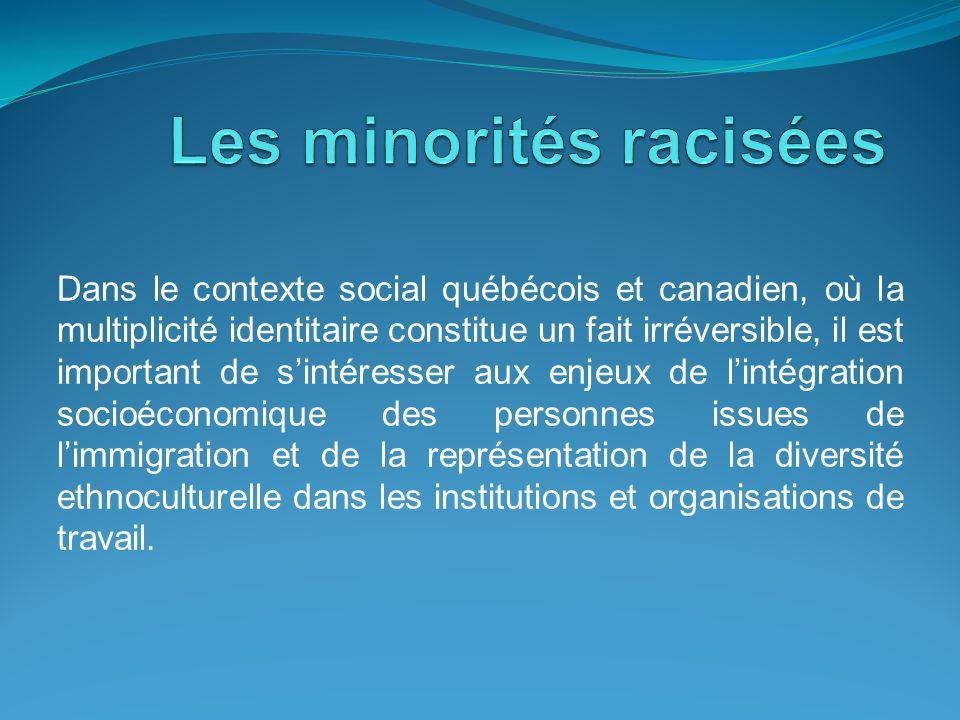 Dans le contexte social québécois et canadien, où la multiplicité identitaire constitue un fait irréversible, il est important de s'intéresser aux enj
