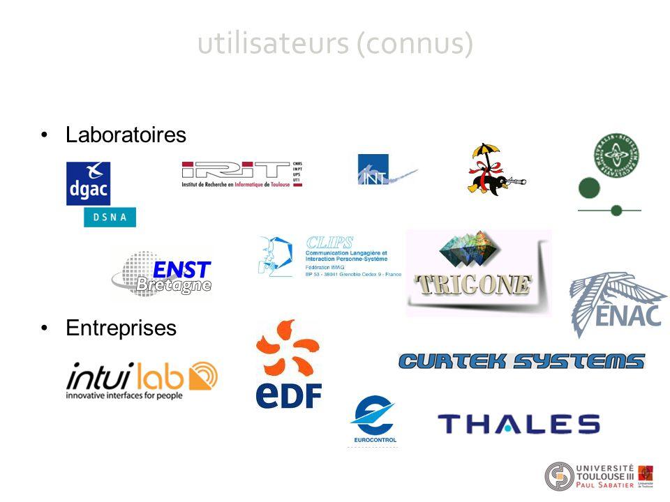 utilisateurs (connus) Laboratoires Entreprises