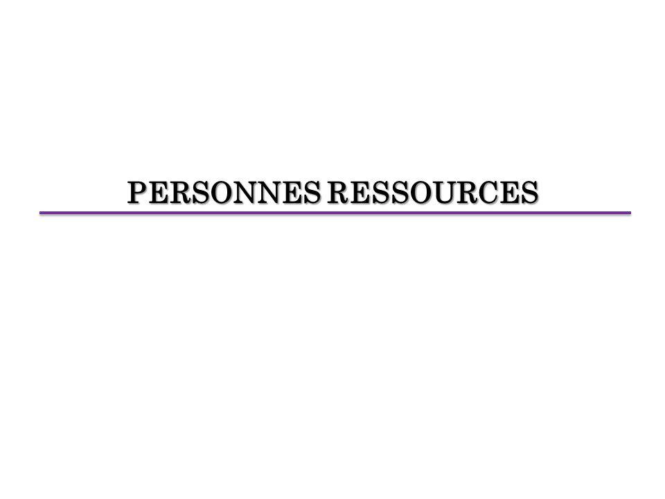 PERSONNES RESSOURCES