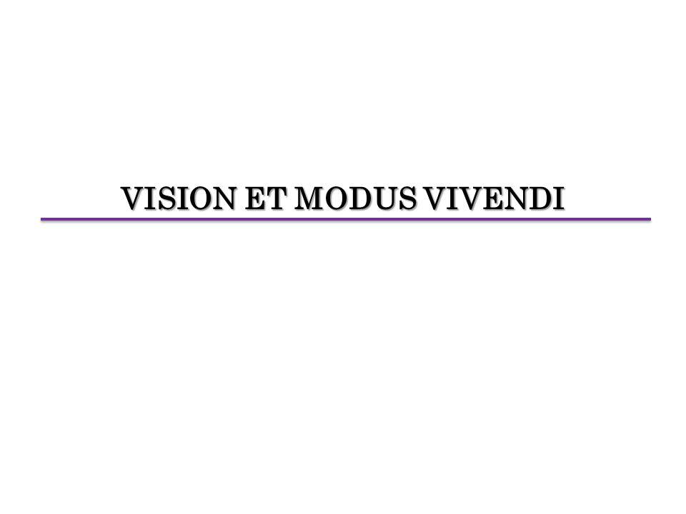VISION ET MODUS VIVENDI