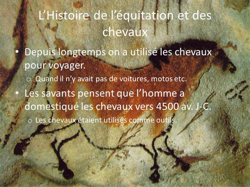 Les usages anciens pour les chevaux À partir de 100,000 av.