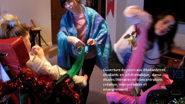 Ouverture du cours aux étudiantes et étudiants en art dramatique, danse, études littéraires et (concentrations création, interprétation et enseignement).