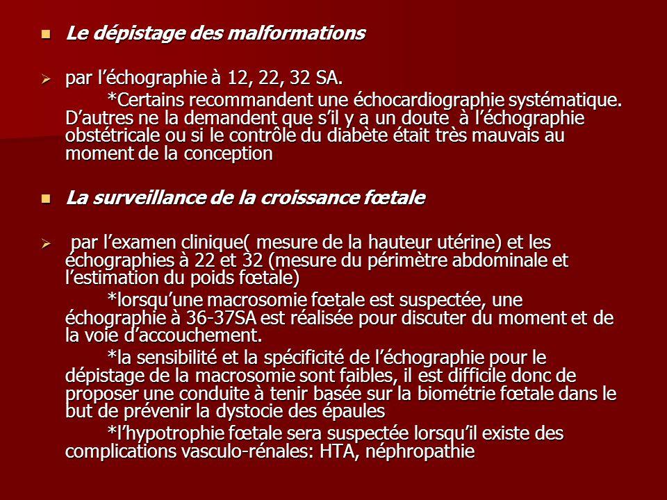 Le dépistage des malformations Le dépistage des malformations  par l'échographie à 12, 22, 32 SA.