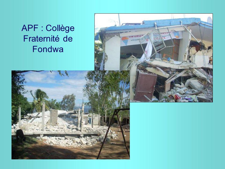 APF : Collège Fraternité de Fondwa