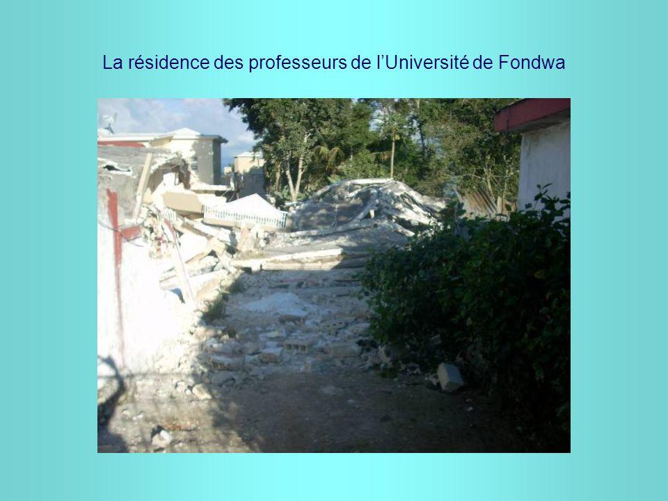 La résidence des professeurs de l'Université de Fondwa