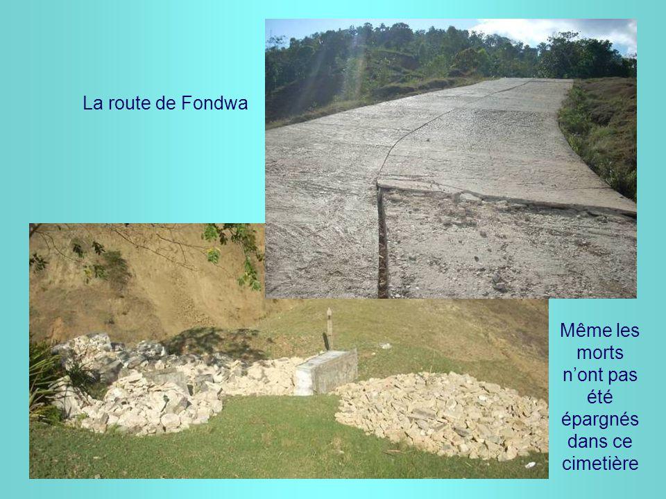 La route de Fondwa Même les morts n'ont pas été épargnés dans ce cimetière