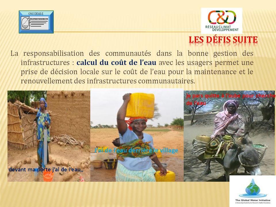 La responsabilisation des communautés dans la bonne gestion des infrastructures : calcul du coût de l'eau avec les usagers permet une prise de décisio
