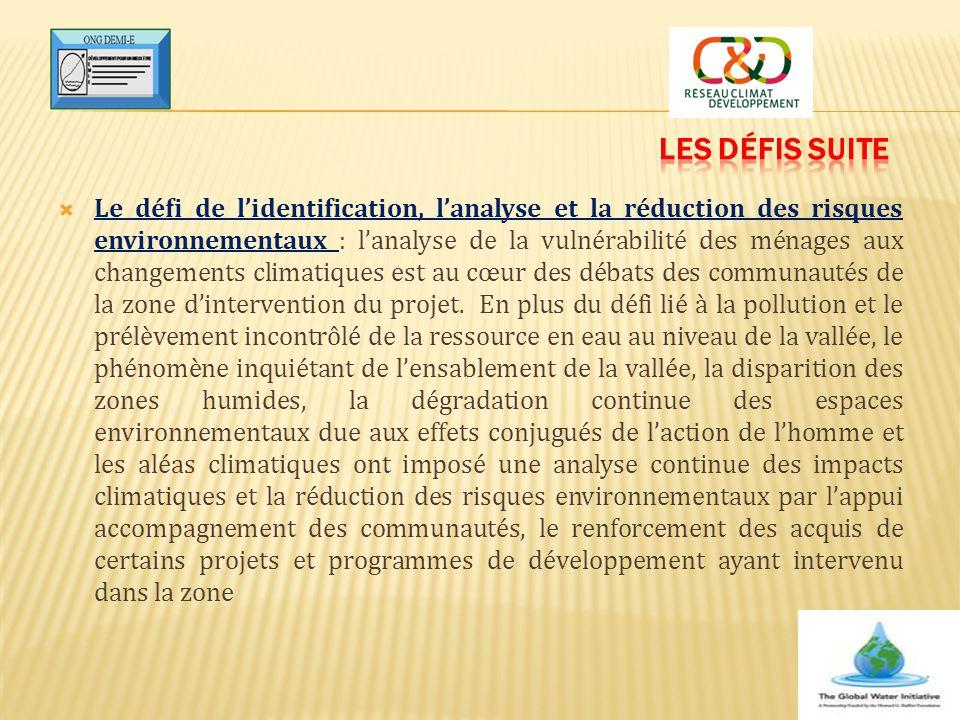  Le défi de l'identification, l'analyse et la réduction des risques environnementaux : l'analyse de la vulnérabilité des ménages aux changements clim