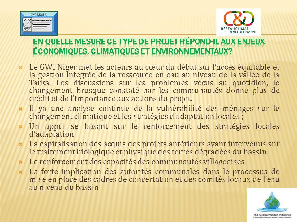  Le GWI Niger met les acteurs au cœur du débat sur l'accès équitable et la gestion intégrée de la ressource en eau au niveau de la vallée de la Tarka
