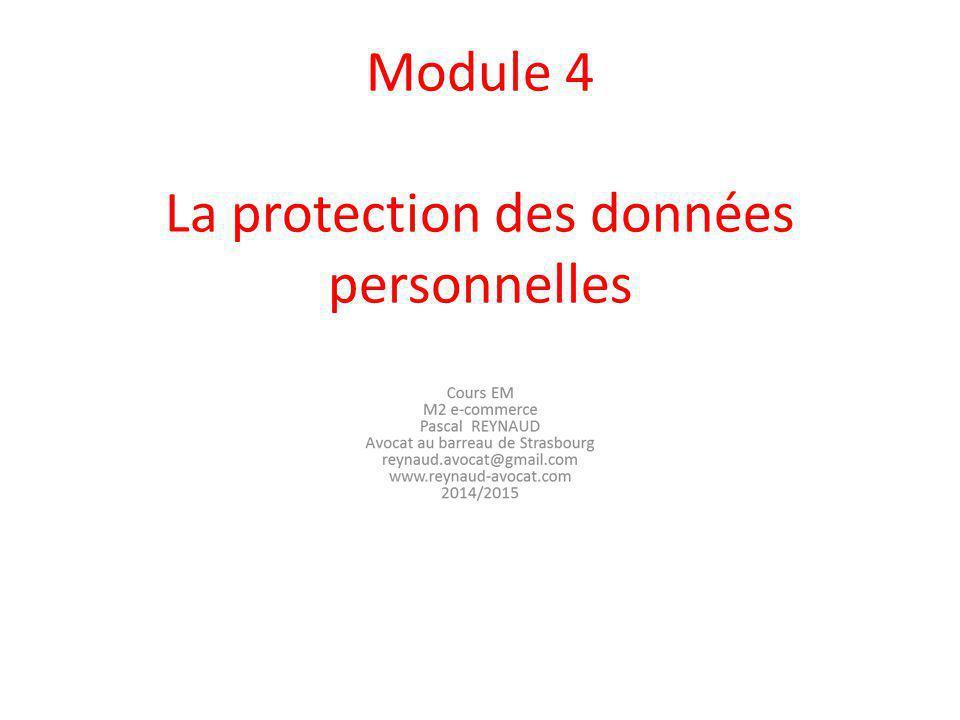 Module 4 La protection des données personnelles