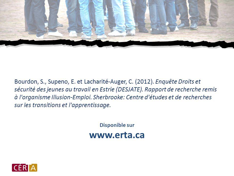 Bourdon, S., Supeno, E.et Lacharité-Auger, C. (2012).