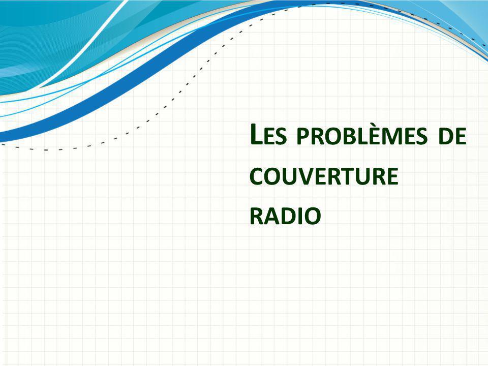 L ES PROBLÈMES DE COUVERTURE RADIO