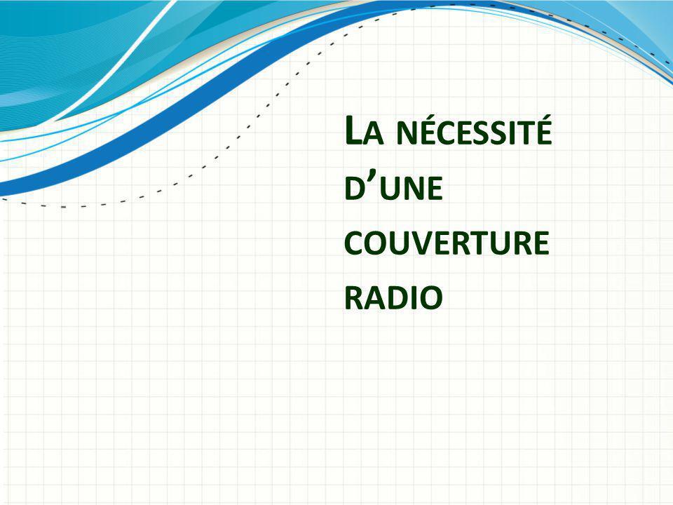 L A NÉCESSITÉ D ' UNE COUVERTURE RADIO