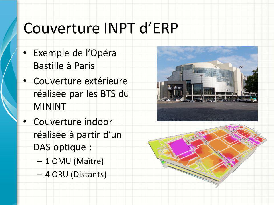 Couverture INPT d'ERP Exemple de l'Opéra Bastille à Paris Couverture extérieure réalisée par les BTS du MININT Couverture indoor réalisée à partir d'u
