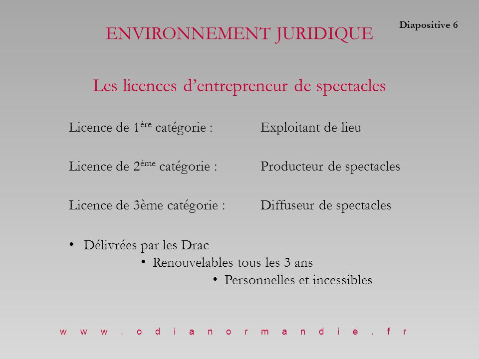 www.odianormandie.fr www.cnv.fr Modalités de déclaration : Le spectacle doit être déclaré au plus tard le dernier jour du 3ème mois qui suit la représentation.