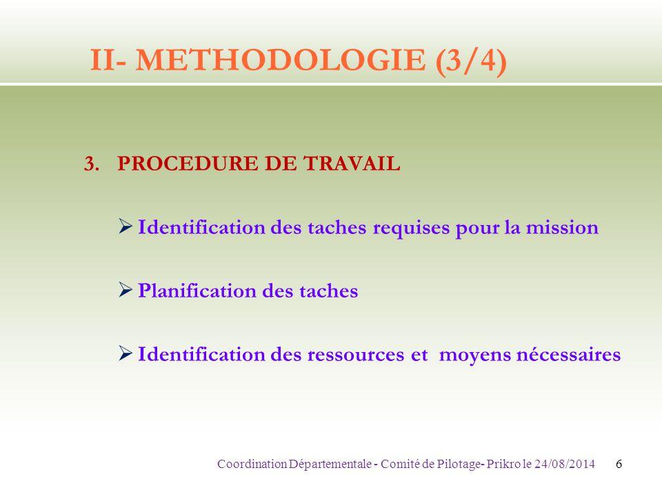 V- PROCHAINES ETAPES 1.