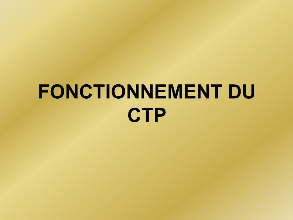 FONCTIONNEMENT DU CTP