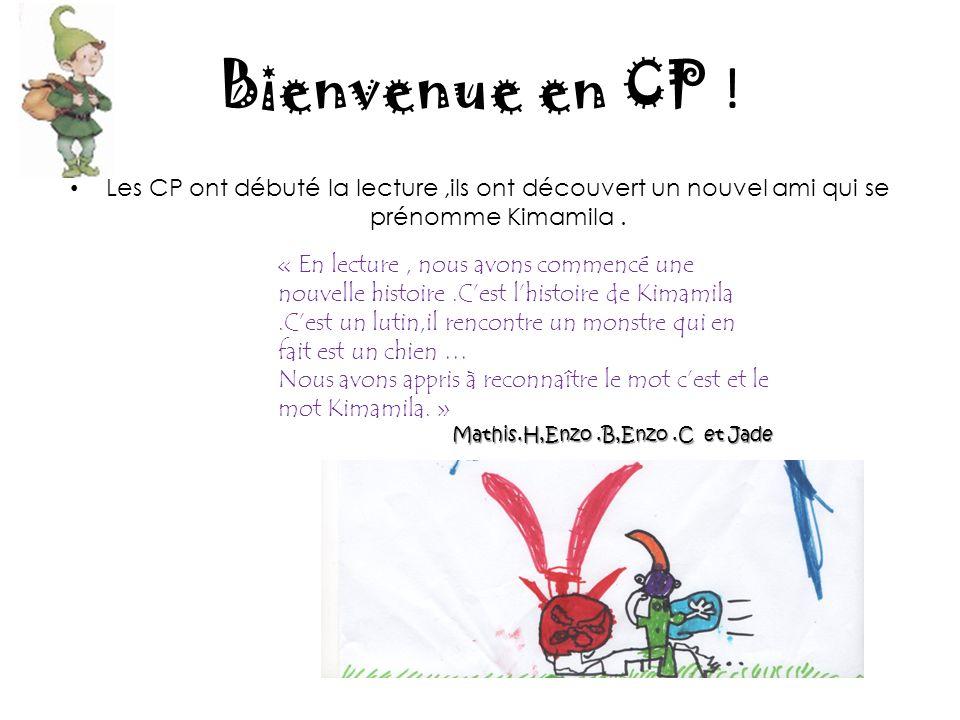 Bienvenue en CP .