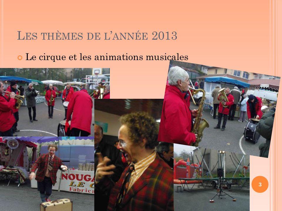 L ES THÈMES DE L ' ANNÉE 2013 Le cirque et les animations musicales 3