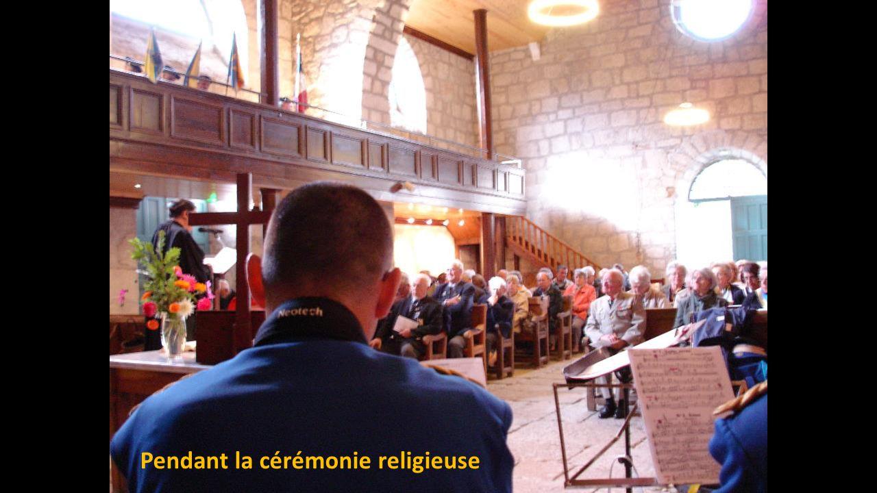 Pendant la cérémonie religieuse