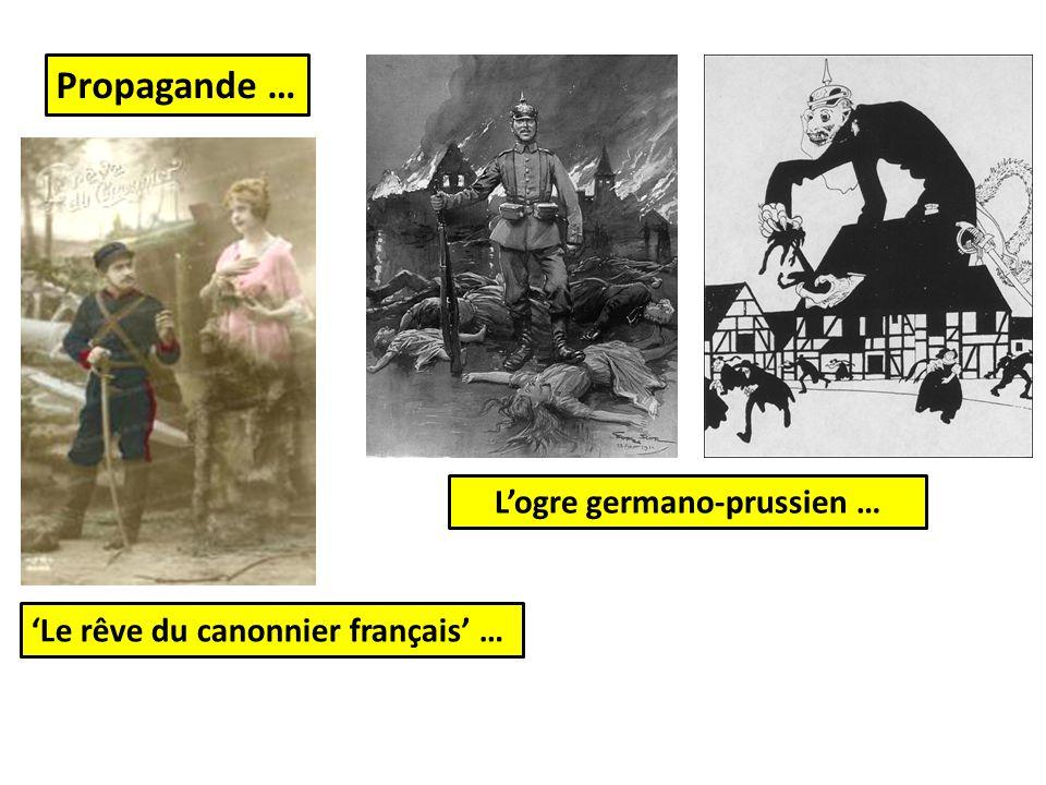 L'ogre germano-prussien … Propagande … 'Le rêve du canonnier français' …