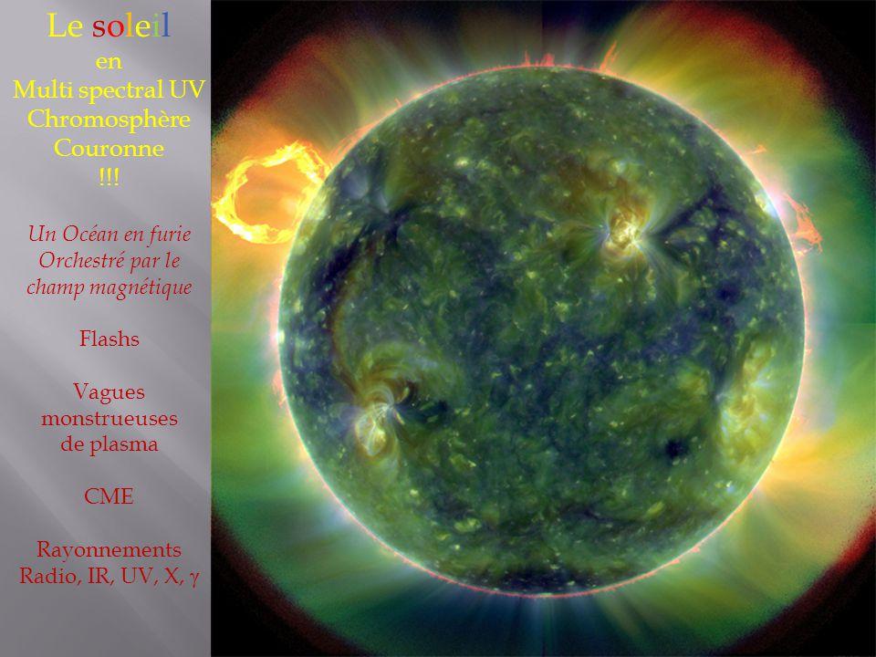 Le soleil en Multi spectral UV Chromosphère Couronne !!.