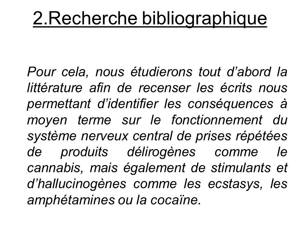1.Problématique Nous allons tenter de montrer que les conduites addictives concernant des drogues laissent des séquelles durables même après un à cinq