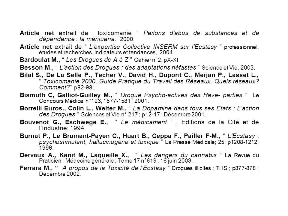 E. Bibliographie
