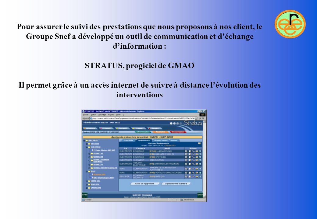 Pour assurer le suivi des prestations que nous proposons à nos client, le Groupe Snef a développé un outil de communication et d'échange d'information